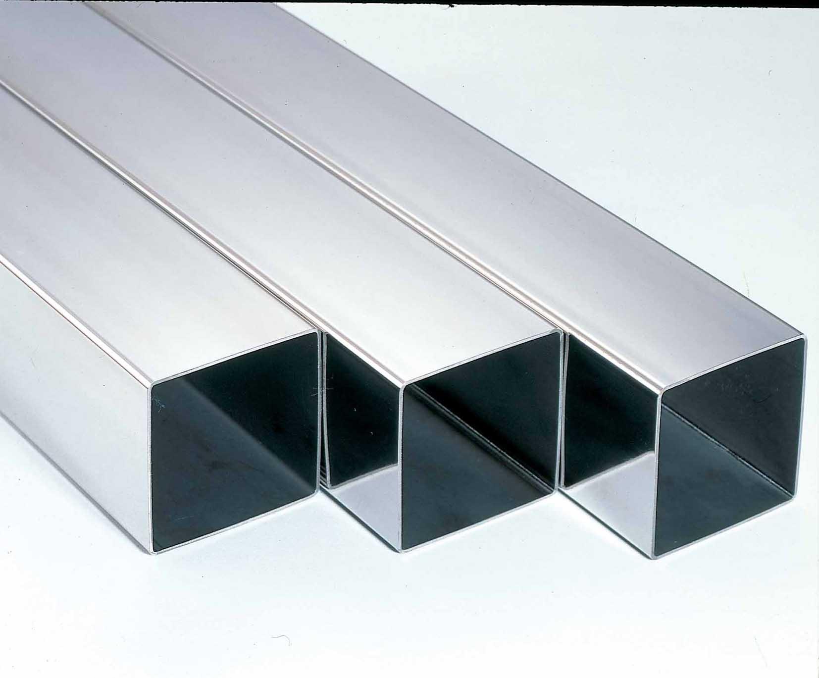 Tubos cuadrados de hierro acero salamanca galva segunda for Tubos de hierro rectangulares