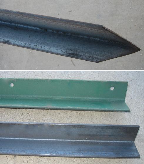 Postes para cercar piquetes de angulo doble t - Angulos de hierro ...